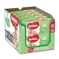 Huggies - 560 Lingettes Bébés Natural Care sur Le roi de la couche