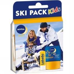 Pack Nivea Kids Ski Protection 50+ et Labello sur Le roi de la couche