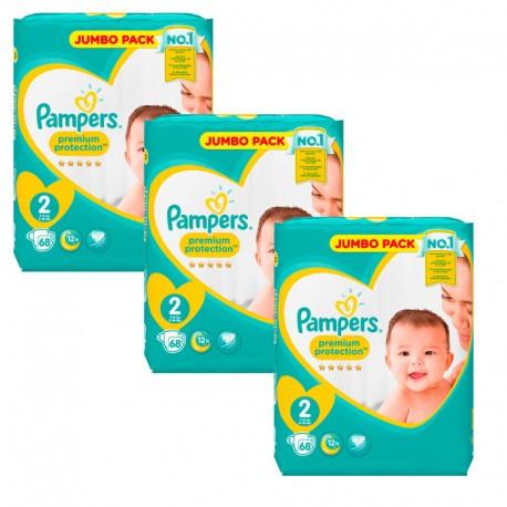 Pampers 204 Couches New Baby Premium Protection taille 2 sur Le roi de la couche