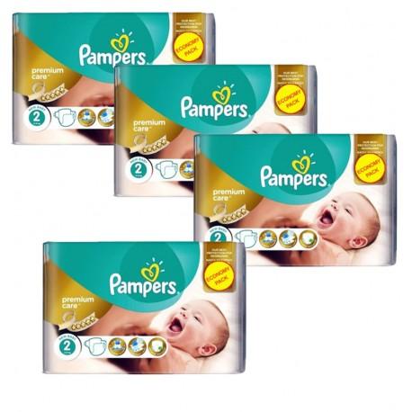 Pampers 266 Couches New Baby Premium Care taille 2 sur Le roi de la couche
