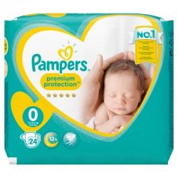 Pampers - 24 Couches New Baby Premium Protection taille 0 sur Le roi de la couche