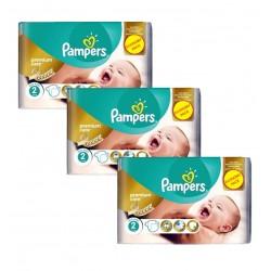 Pampers 190 Couches New Baby Premium Care taille 2 sur Le roi de la couche