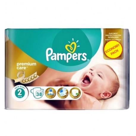 Pampers 38 Couches New Baby Premium Care taille 2 sur Le roi de la couche