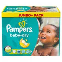 Pampers - 252 Couches Baby Dry taille 5+ sur Le roi de la couche