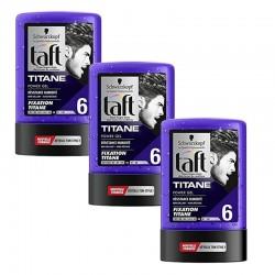 Lot de 3 Taft Gel 300 ml Titane N°6 Tube sur Le roi de la couche