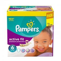 Pampers Pack 120 Couches Active Fit Premium Protection taille 6 sur Le roi de la couche