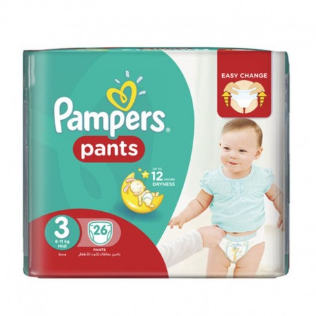 Pampers - Pack 26 Couches Baby Dry Pants taille 3 sur Le roi de la couche