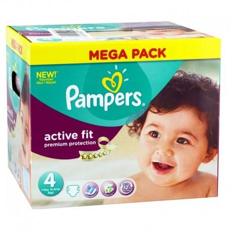 Pampers Pack 168 Couches Active Fit Premium Protection taille 4 sur Le roi de la couche