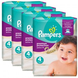 Pampers Giga Pack 336 Couches Active Fit Premium Protection taille 4
