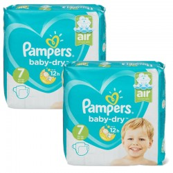 Pampers - Giga Pack 115 Couches Baby Dry taille 7 sur Le roi de la couche