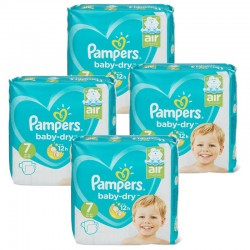Pampers - Giga Pack 138 Couches Baby Dry taille 7 sur Le roi de la couche
