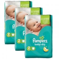 Pampers - 126 Couches Baby Dry taille 2 sur Le roi de la couche