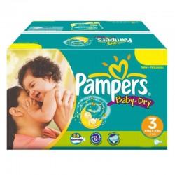 Pampers - Mega Pack 374 Couches Baby Dry taille 3 sur Le roi de la couche