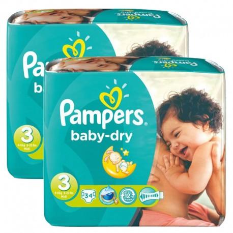 Pampers - Maxi Pack 170 Couches Baby Dry taille 3 sur Le roi de la couche