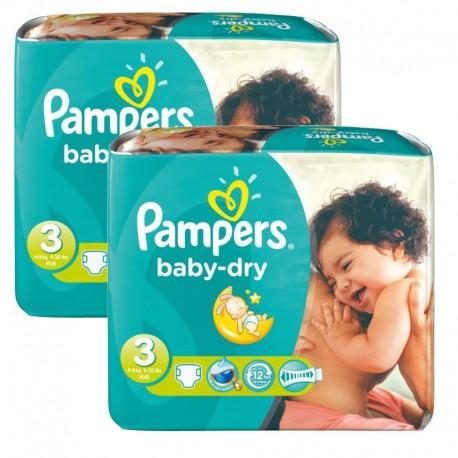 Pampers - 102 Couches Baby Dry taille 3 sur Le roi de la couche