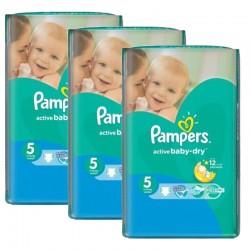 Pampers - Mega Pack 264 Couches Active Baby Dry sur Le roi de la couche