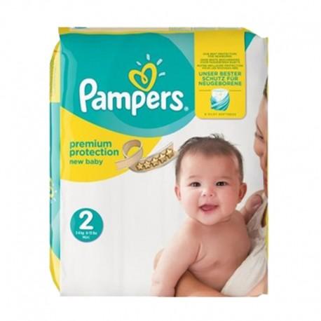 Pampers Pack 22 Couches New Baby Premium Protection taille 2 sur Le roi de la couche