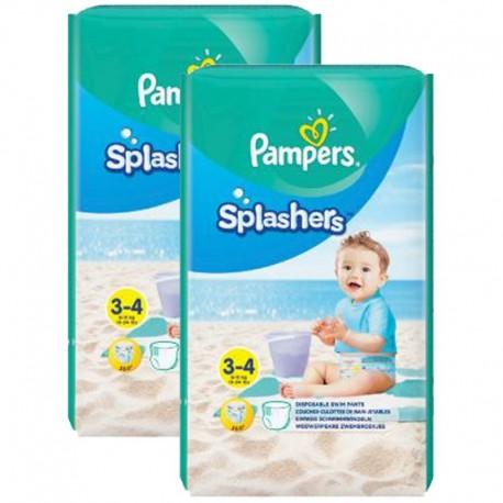 Pampers - Mega Pack 36 Couches de bains Splashers taille 3 sur Le roi de la couche