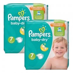Pampers - Mega Pack 60 Couches Baby Dry taille 7 sur Le roi de la couche