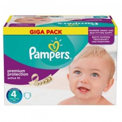 Pampers - Pack jumeaux 1512 Couches Active Fit Premium Protection taille 4