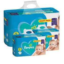 Pampers - Pack jumeaux 564 Couches Active Baby Dry taille 2