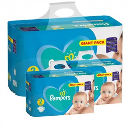 Pampers - Pack jumeaux 564 Couches Active Baby Dry taille 2 sur Le roi de la couche