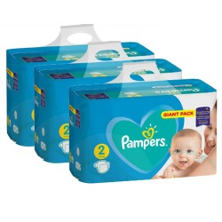 Pampers - Pack jumeaux 658 Couches Active Baby Dry taille 2