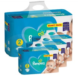 Pampers - Pack jumeaux 752 Couches Active Baby Dry taille 2