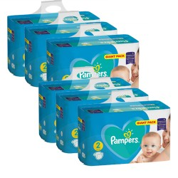 Pampers - Pack jumeaux 940 Couches Active Baby Dry taille 2