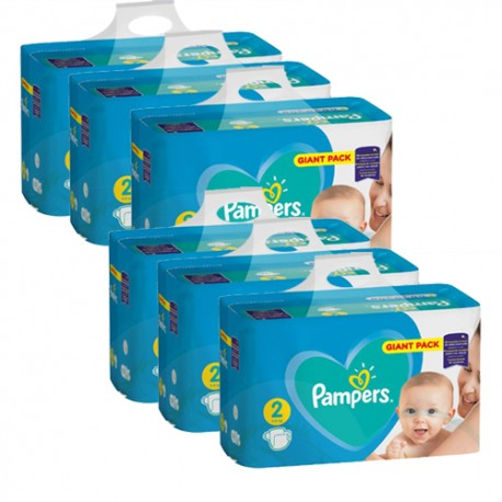 Pampers - Pack jumeaux 940 Couches Active Baby Dry taille 2 sur Le roi de la couche