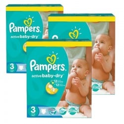 Pampers - Pack jumeaux 820 Couches Active Baby Dry taille 3