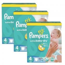 Pampers - Pack jumeaux 770 Couches Active Baby Dry taille 4 sur Le roi de la couche