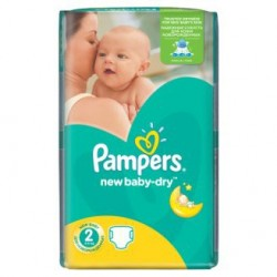 Pampers - Mega pack 144 Couches New Baby Dry taille 2