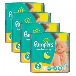 Pampers - Pack jumeaux 576 Couches New Baby Dry taille 2