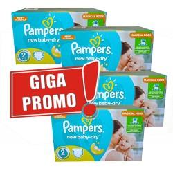 Pampers - Pack jumeaux 1008 Couches New Baby Dry taille 2 sur Le roi de la couche