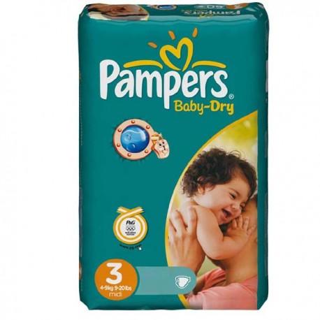 Pampers - Mega pack 116 Couches Baby Dry taille 3 sur Le roi de la couche