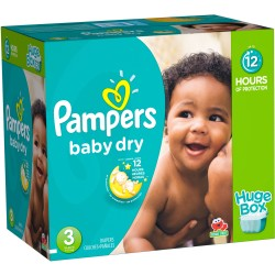 Pampers - Giga pack 232 Couches Baby Dry taille 3 sur Le roi de la couche