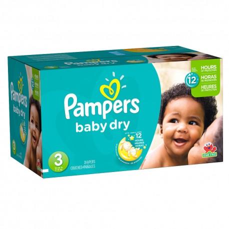 Pampers - Maxi giga pack 348 Couches Baby Dry taille 3 sur Le roi de la couche
