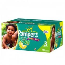 Pampers - Maxi mega pack 464 Couches Baby Dry taille 3 sur Le roi de la couche