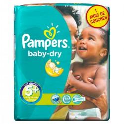 Pampers - Pack 84 Couches Baby Dry taille 5+ sur Le roi de la couche
