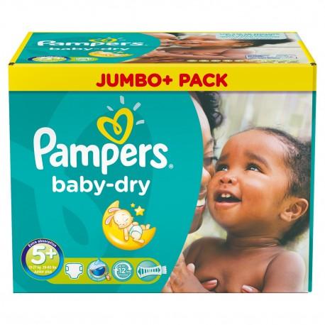 Pampers - Maxi mega pack 420 Couches Baby Dry taille 5+ sur Le roi de la couche