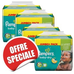 Pampers - Pack jumeaux 672 Couches Baby Dry taille 5+