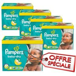 Pampers - Pack jumeaux 840 Couches Baby Dry taille 5+ sur Le roi de la couche