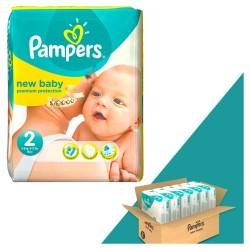 Pampers - Pack jumeaux 1296 Couches New Baby Dry taille 2 sur Le roi de la couche