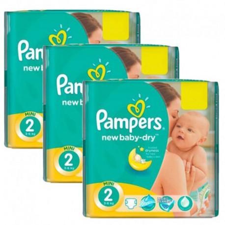 Pampers - Pack jumeaux 1440 Couches New Baby Dry taille 2 sur Le roi de la couche