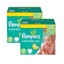 Pampers - Pack jumeaux 1020 Couches Active Baby Dry taille 3 sur Le roi de la couche