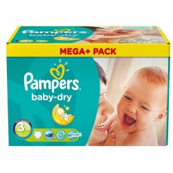 Pampers - Pack jumeaux 1160 Couches Baby Dry taille 3
