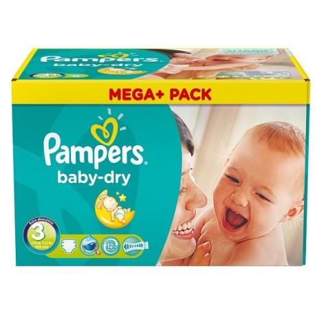 Pampers - Pack jumeaux 1160 Couches Baby Dry taille 3 sur Le roi de la couche
