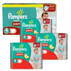 Pampers - Pack jumeaux 968 Couches Baby Dry Pants taille 4