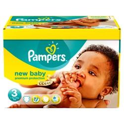 Pampers - Mega pack 120 Couches New Baby Premium Protection taille 3 sur Le roi de la couche